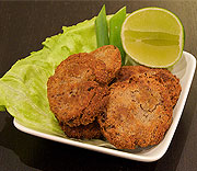 Black bean tuna fritters