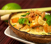 Butternut squash med ingefära i het massaman curry