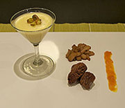 Vanilla pannacotta with mixed accessories