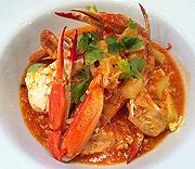 Singapore chili crab för familjen