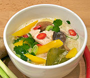Quick and simple Tom Kha Gai - fragrant thai coconut soup with chicken